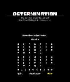 Determination: Better Undertale Font