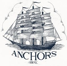 The Phraseology Project #lettering #sail #illustration #ship #sea #phraseology #anchor #mast #nautical