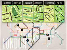 London neighborhoods #subway #london #map