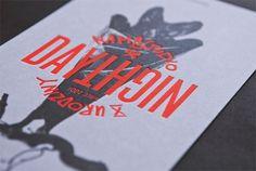 mamastudio Birthday Invitation - FPO: For Print Only #orange #night #bat #day #typography