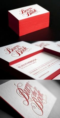 Red Letterpress Cards | Business Cards Observer