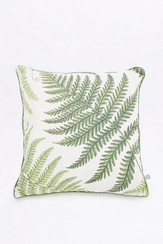 Fern Print Cushion, Urban Outfitters