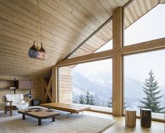 This Wooden Mountain House Features Delightful Mix of Traditional and Modern 8