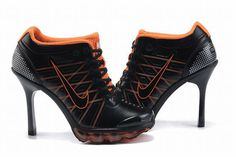 Nike Air Max 2009 Low Heels Black/Orange #shoes