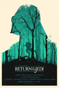Star Wars posters by Olly Moss  #design #star wars
