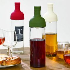 The Cold Brew Tea Bottle allows you to brew, store and serve tea effortlessly. It is beautifully designed, and preserves the tea's natural