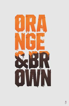 NIKE x NFL / APPAREL on Behance #nfl #orange #illustration #brown #nike #tee #typography