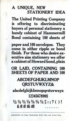 Cheltenham type specimen #type #specimen
