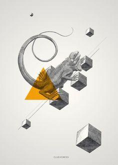 Archetypes on the Behance Network #illustration #iguana
