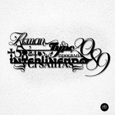 TYPO EXPERIMETAL on the Behance Network #fonts #experimental #black #typo #typography
