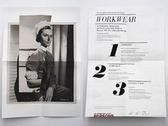 Nation – Workwear Exhibition Print Work #blackwhite #nation #print #workwear #layout #typography