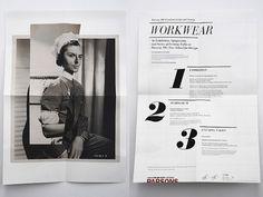 Nation – Workwear Exhibition Print Work #blackwhite #nation #print #workwear #layout #typography