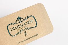 Kommigraphics Print & New Media Design Studio | Projects & Portfolio | Dimisianos Coiffures #baroque #business #card #design #graphic