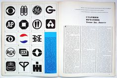 Herb Lubalin, editorial design for Amerika... Design is fine. History is mine. #mark #international #electric #cbs #alcoa #chase #pepsi #harvester #general