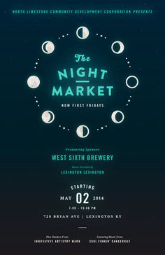 Night Market: May www.fromupnorth.com #typography #poster