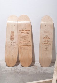 Old Skateboards / Limited Edition