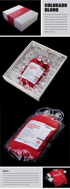 Nike Blood Football Shirt Packaging #design #packaging #tshirts