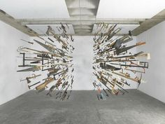 """Controller of the Universe, In 2007 Damian Ortega presented his installation """"Man is the controller of the universe"""" at the DAAD Gallery #universe #installation #space #time #art"""