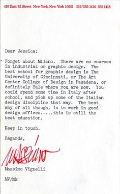 swissmiss #massimo #vignelli #note #design #graphic
