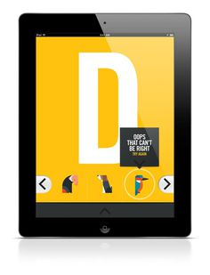 ABC iPad App on Behance #type