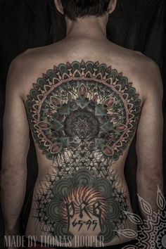 egonkey:Thomas Hooper Saved Tattoo (Brooklyn, NY) #mandala #hooper #art #thomas