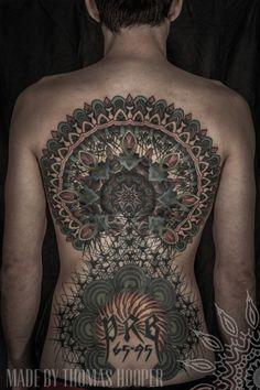 egonkey:Thomas Hooper Saved Tattoo (Brooklyn, NY) #mandala #hooper #art #thomas