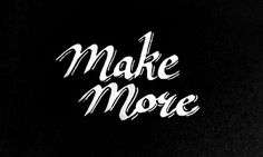 make more by christine chao #lettering