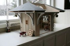TinyGarage Exterior 2.jpg #workshop #bike #miniature #art