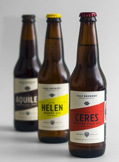 Cale Brewery Bottles #packaging #beer
