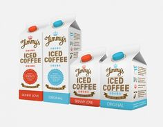 Jimmy's Iced Coffee : Lovely Package . Curating the very best packaging design. #beverage #packaging #drink #design #coffee #carton
