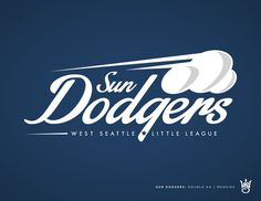 West Seattle Little League - danlustig.com #sun #seattle #sports #baseball #logo #dodgers #typography