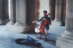#paris #louvre #authentic #music #doublebass #summer