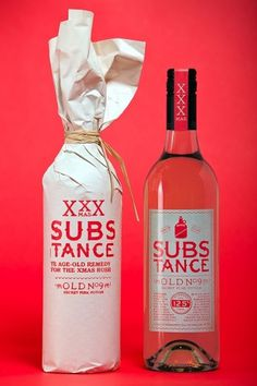 Marx - Packaging & Branding #substance #bottle #design #xxx #wine #christmas #gift #package