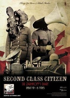 Second Class Citizen Flyer EP - 13decembre - Séverin Boonne #music #collage
