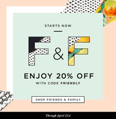 Shop The Loeffler Randall Friends & Family Event 20% Off Sitewide at www.LoefflerRandall.com #randall #loeffler #email