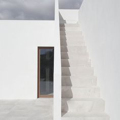 Outdoor stairway. Eco-House Sa Cabaneta by Munarq Studio. #stairway