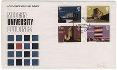 modern university buildings stamps | Flickr - Photo Sharing! #envelopes #british #modern #university #stamps #vintage #buildings