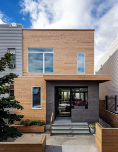 A Wood Frame Townhouse in Brooklyn Renovated by BFDO Architects