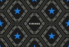 Vimineo logo design pattern. #pattern #bicycle #chain #star #logo