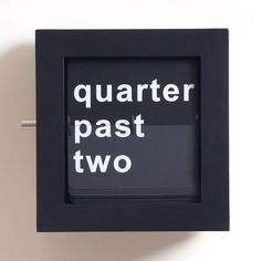 Quarter Word Clock #tech #flow #gadget #gift #ideas #cool