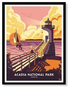Acadia National Park Poster (Variant)