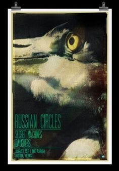 Home : The online portfolio of Josh Sullivan #pelican #russian #circles #bird #austin #poster #typography