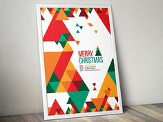 Minimal Christmas Flyer You can download it here: http://graphicriver.net/item/minimal-christmas-flyer/9638694?ref=abradesign #modern #flyer #christmas #poster #template
