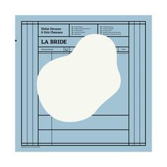 "Brest Brest Brest - Eloïse Decazes & Eric Chenaux ""La bride"" (three:four records)"