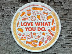Food Bloggers Conference Coaster #letterpress #coaster #food