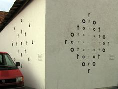 Visual-Poetry — hünfeld is a town in germany with more than 100... #letters #pattern #wall #art #type