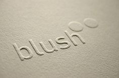 Blush°° Bespoke & custom letterpress printing in the UK #logo
