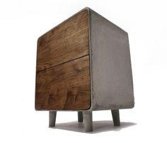 Concrete & Wood Cabinet #cabinet #concrete #concrete cabinet