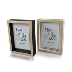 Slide in Photo Frame Natural Colour 16cm x 21cm, Set of Two Pictures 12.5cm x 17.5cm