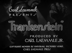 Frankenstein (1931) Title Card